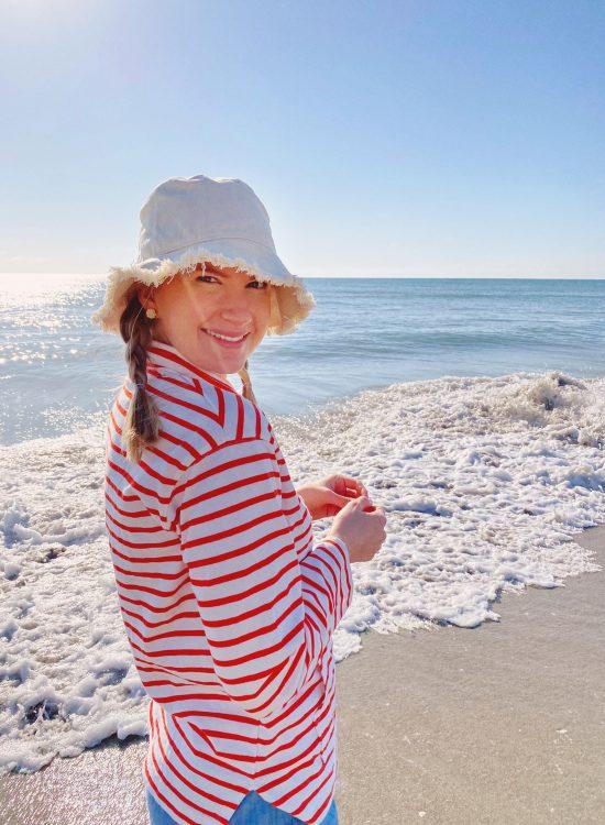 Ashley Brooke at the Beach