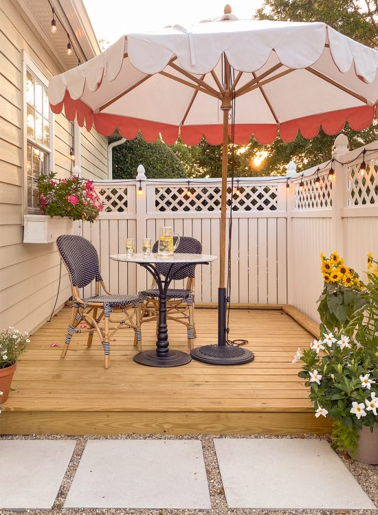 Ashley Brooke's backyard deck