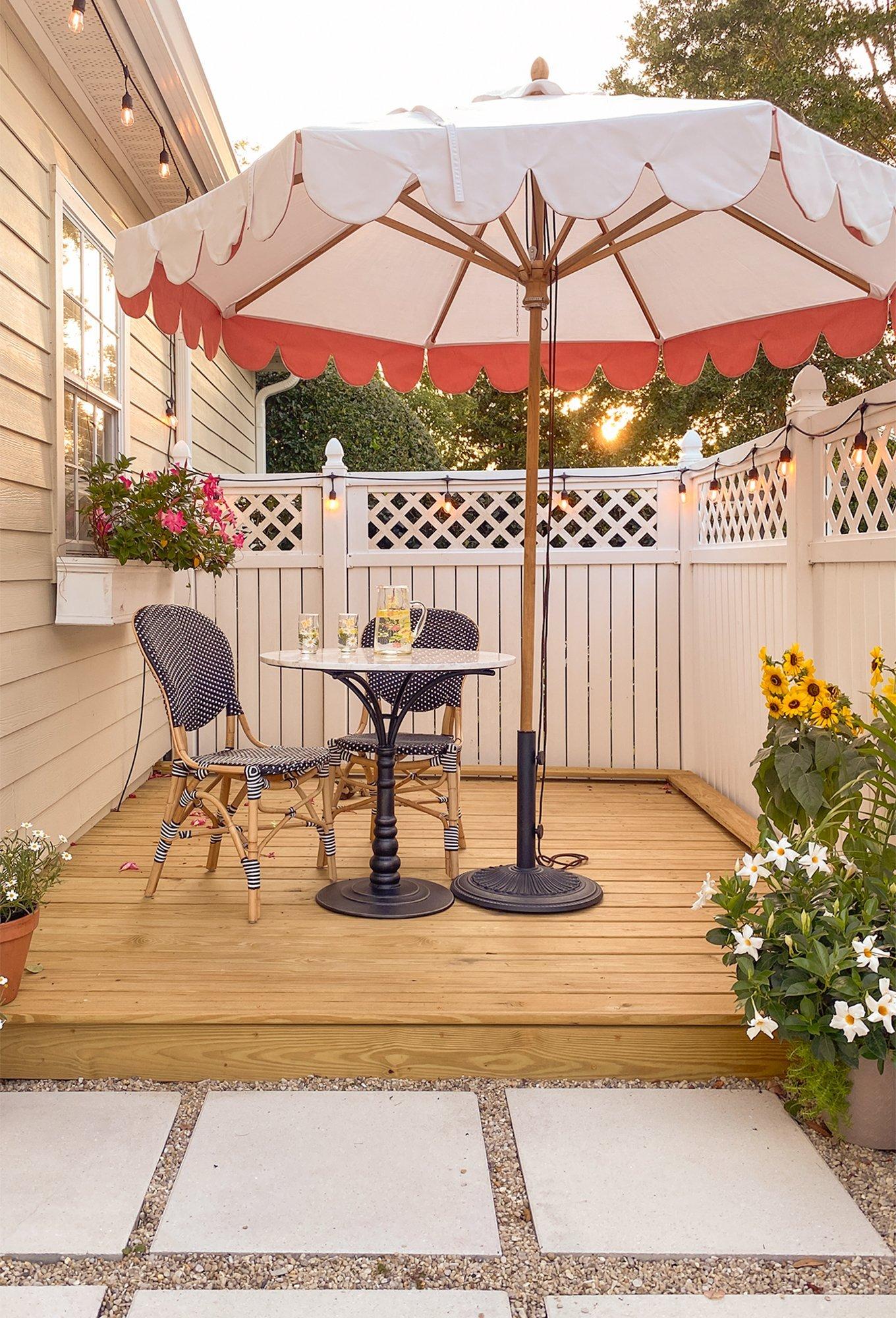 Ashley Brooke's backyard deck