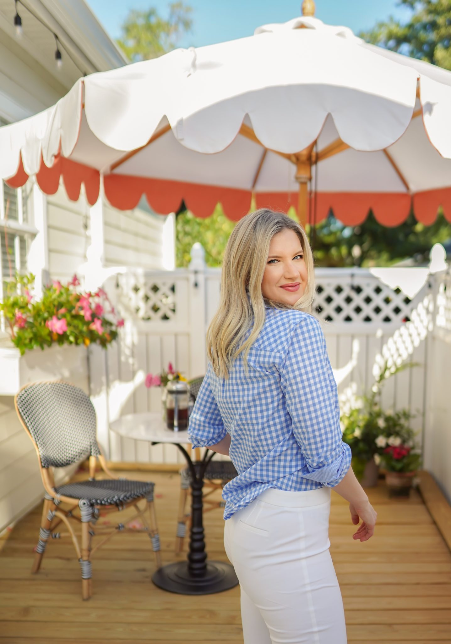 Ashley Brooke - Talbots - Gingham Shirt - 3