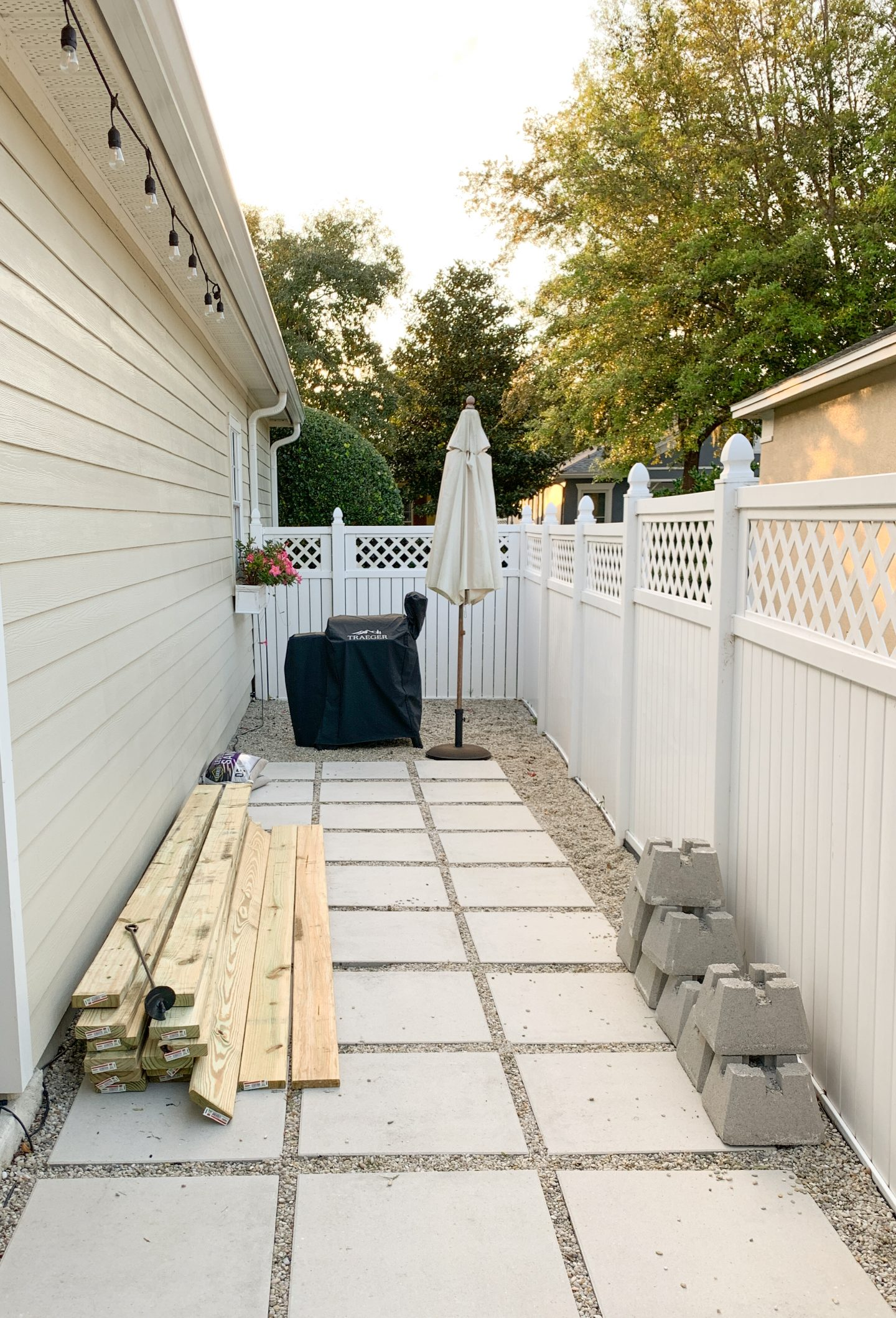 Wood deck area