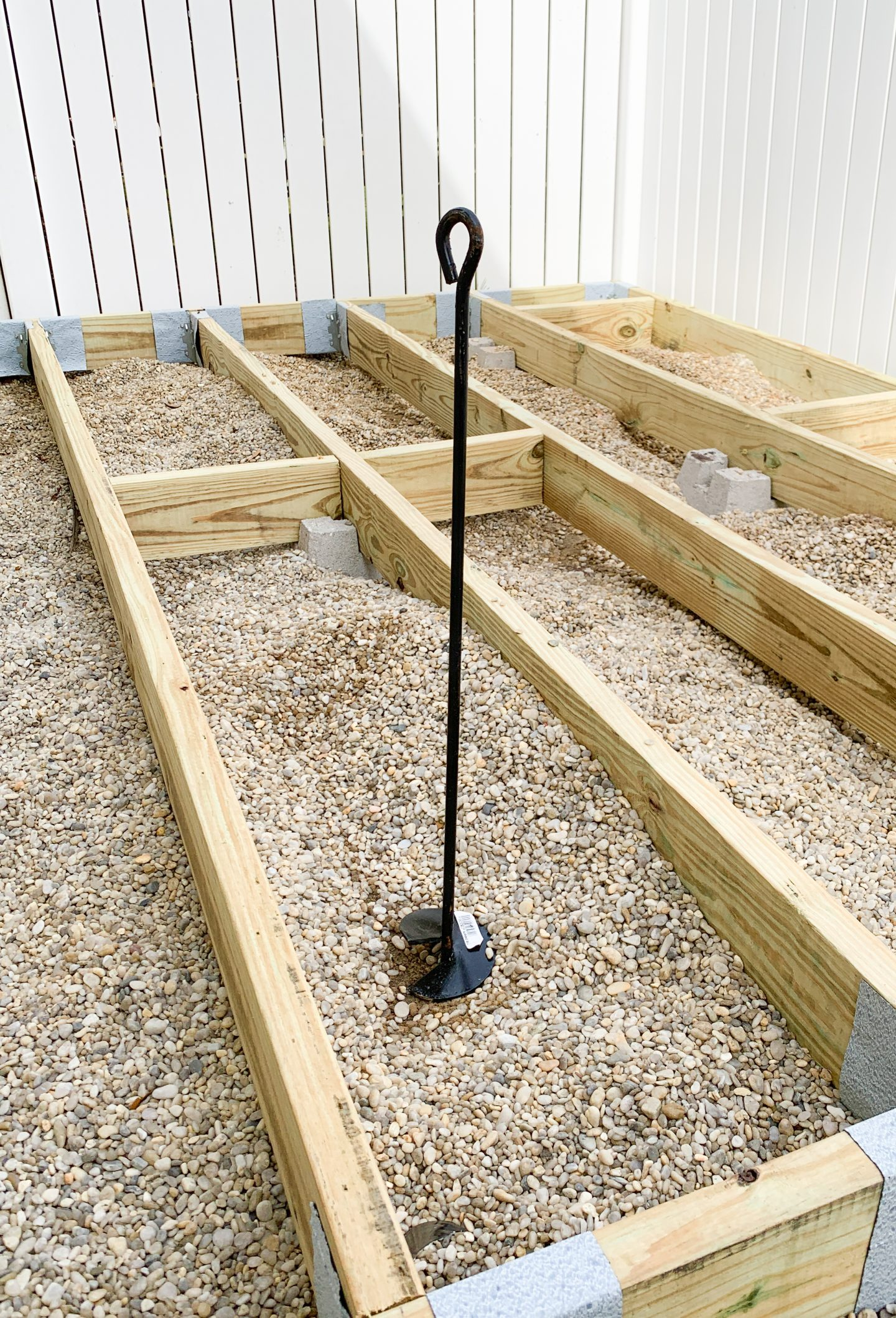 Shed anchor to hold down DIY wood deck