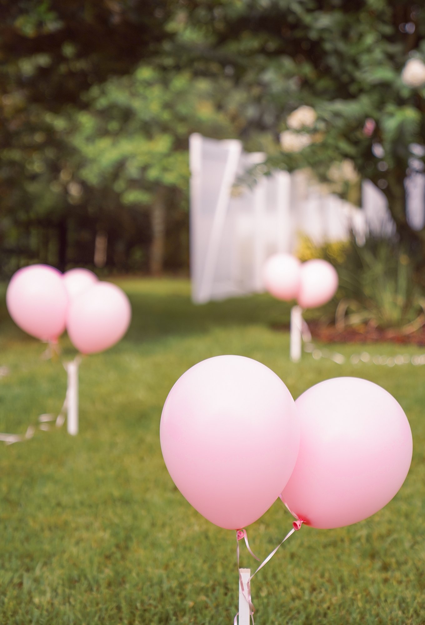 Baby shower balloon path
