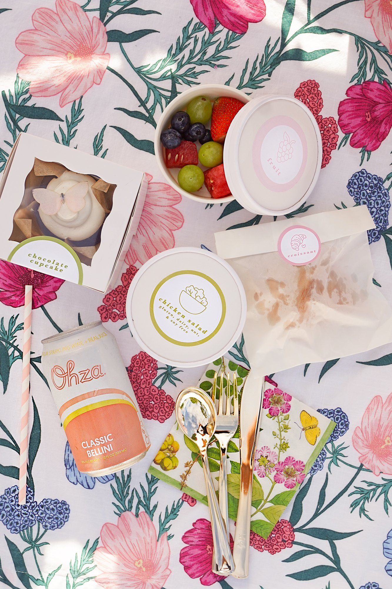 brunch box contents at social distancing baby shower