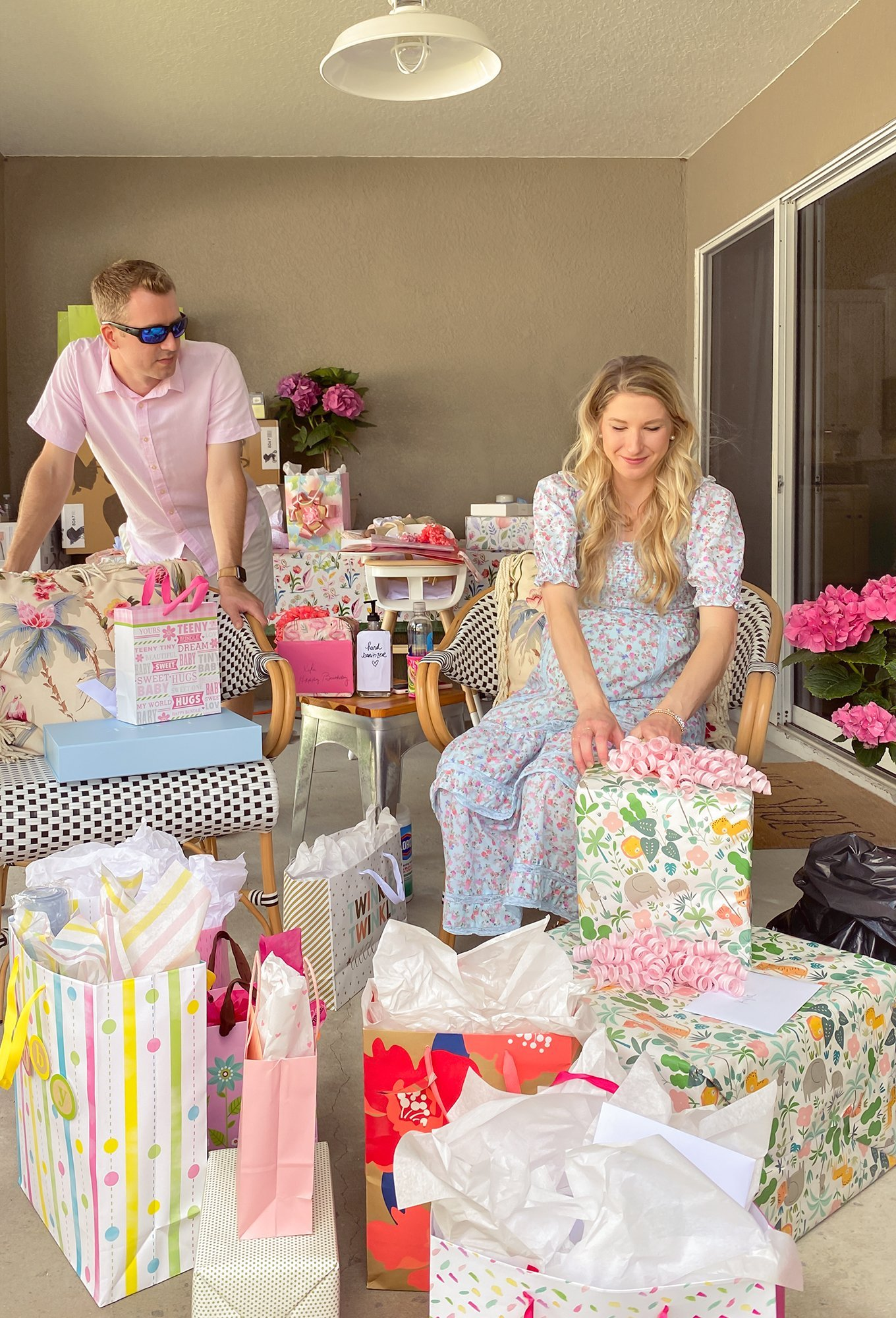 Social distancing baby shower