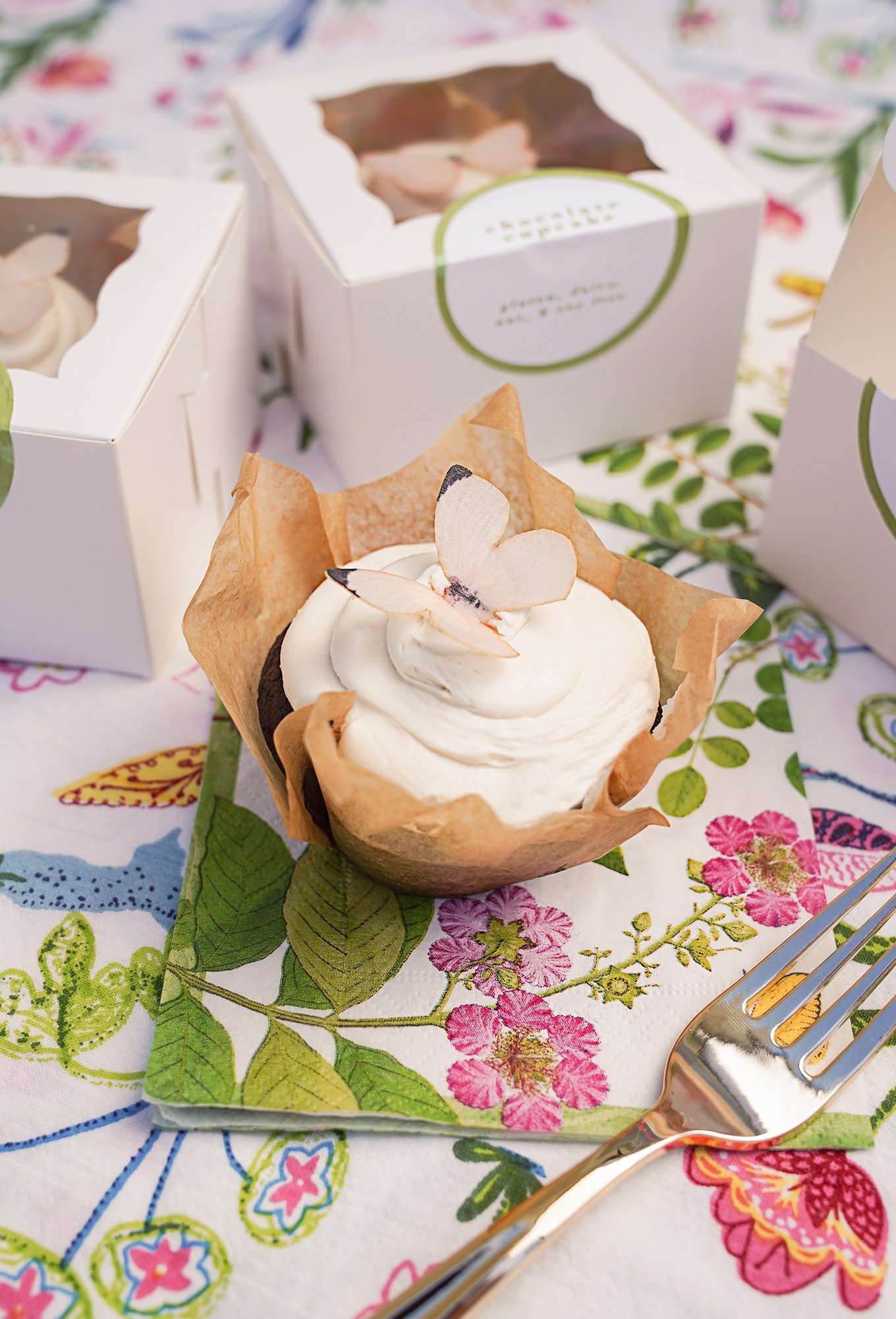 butterfly cupcakes for baby shower by Ashley Brooke