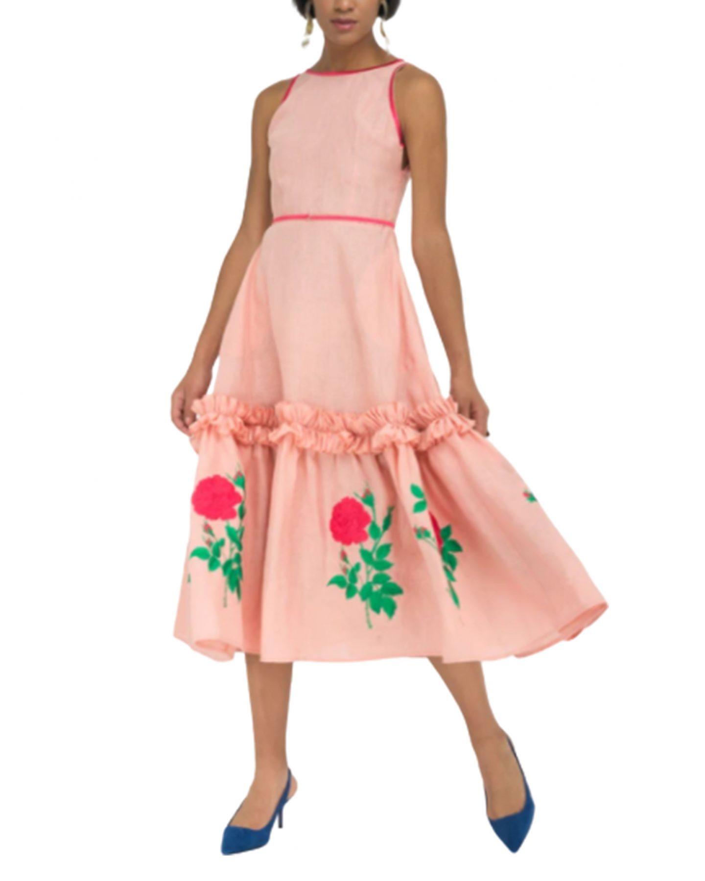 Fanm Mon pink rose dress
