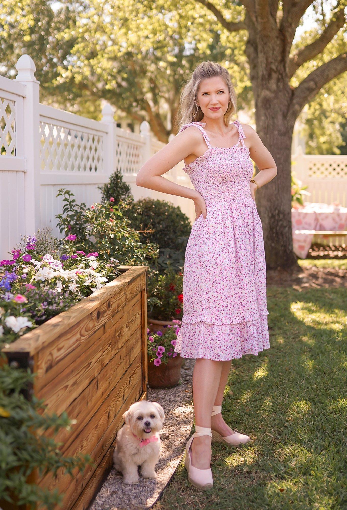 Ashley Brooke - Draper James - Floral Smocked Dress - 5- c
