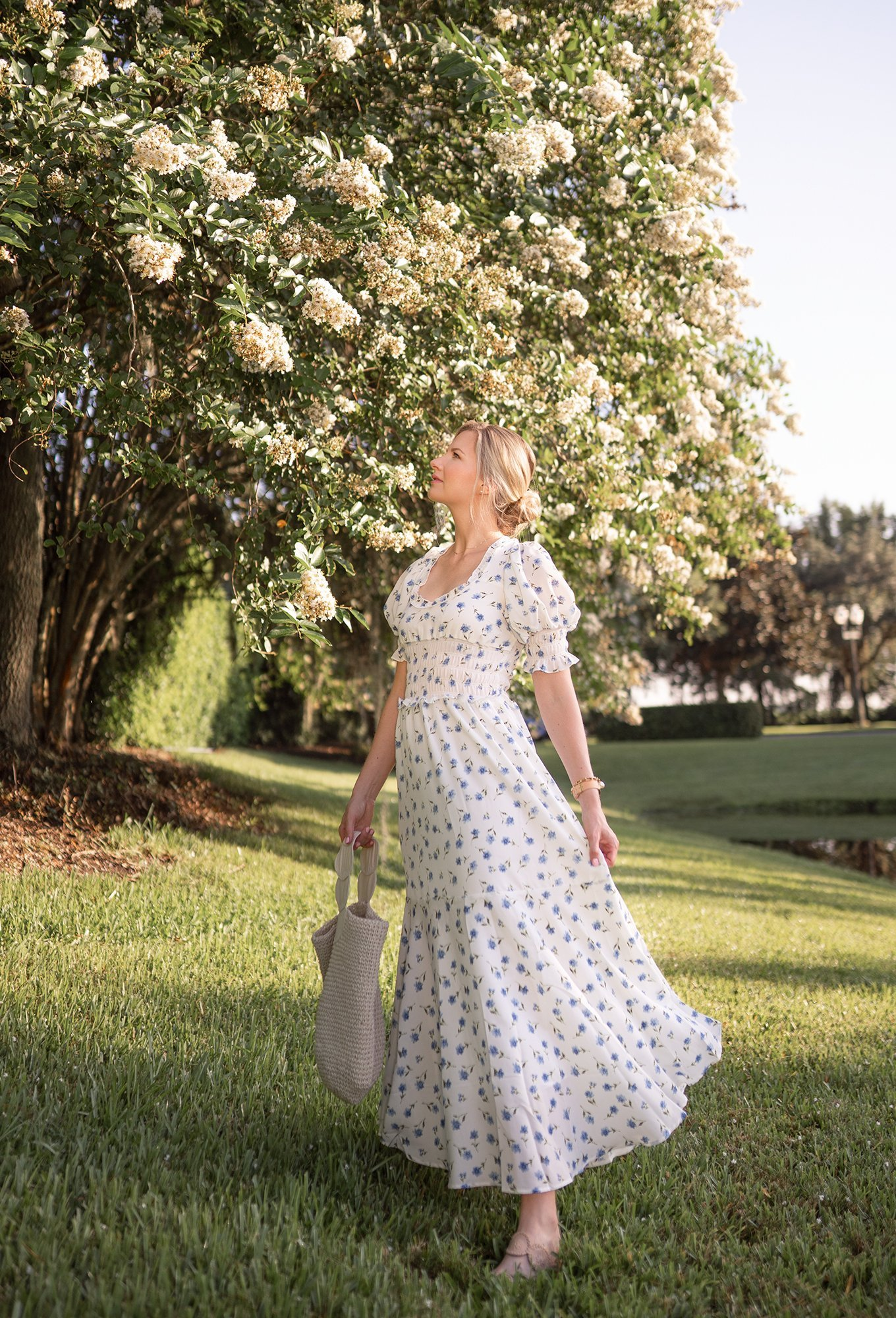 Ashley Brooke wearing Sister Jane blue & white bow dress