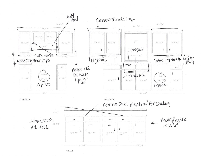 Ashley Brooke and Ryan's Kitchen Renovation Layout Plan