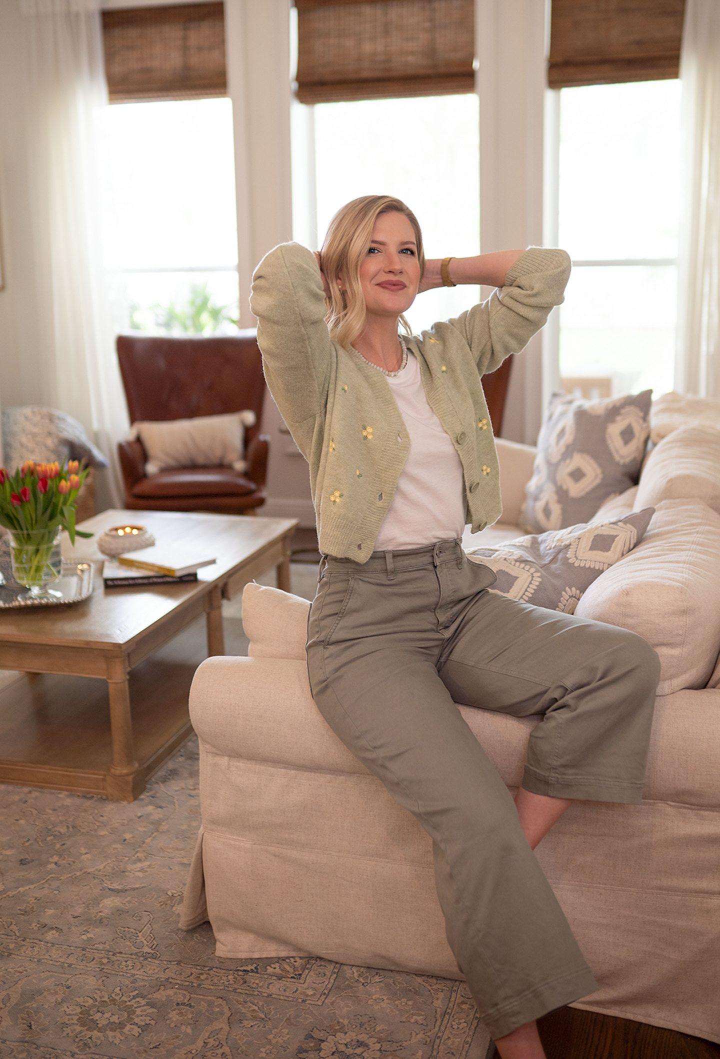 Ashley Brooke talks cozy floral sweaters