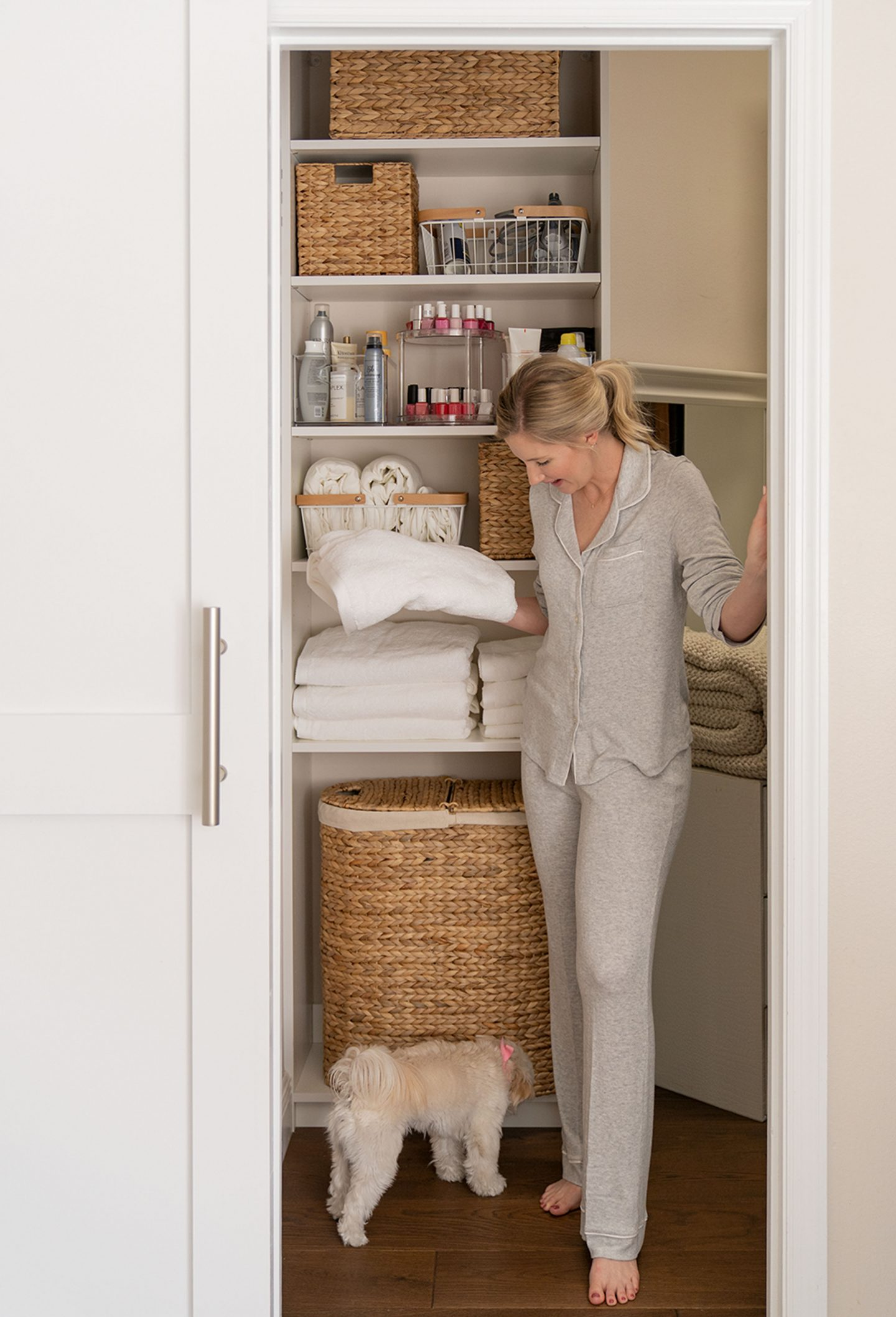 Updating Our New Linen Closet
