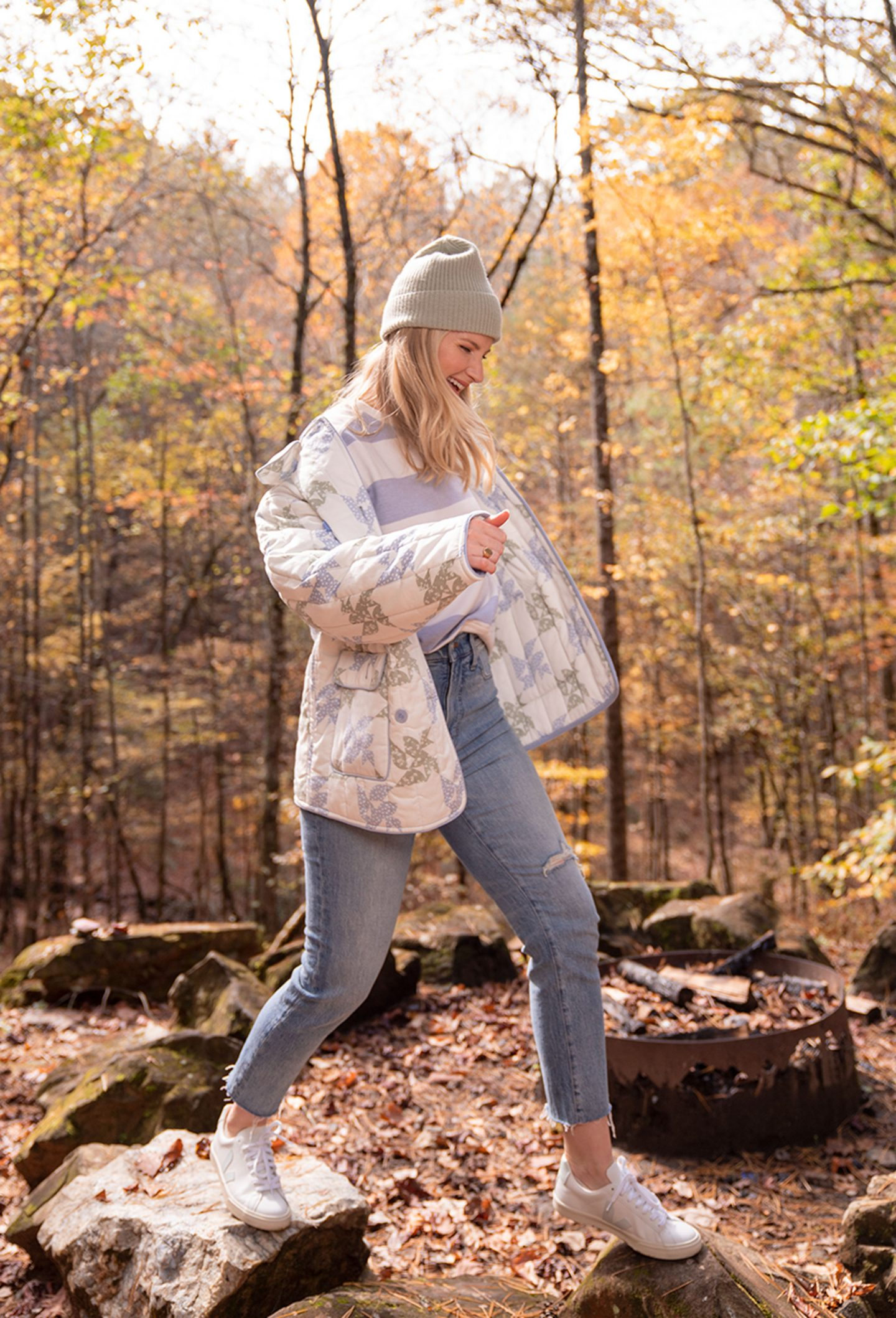 Ashley Brooke in quilited jacket in Blue Ridge, GA