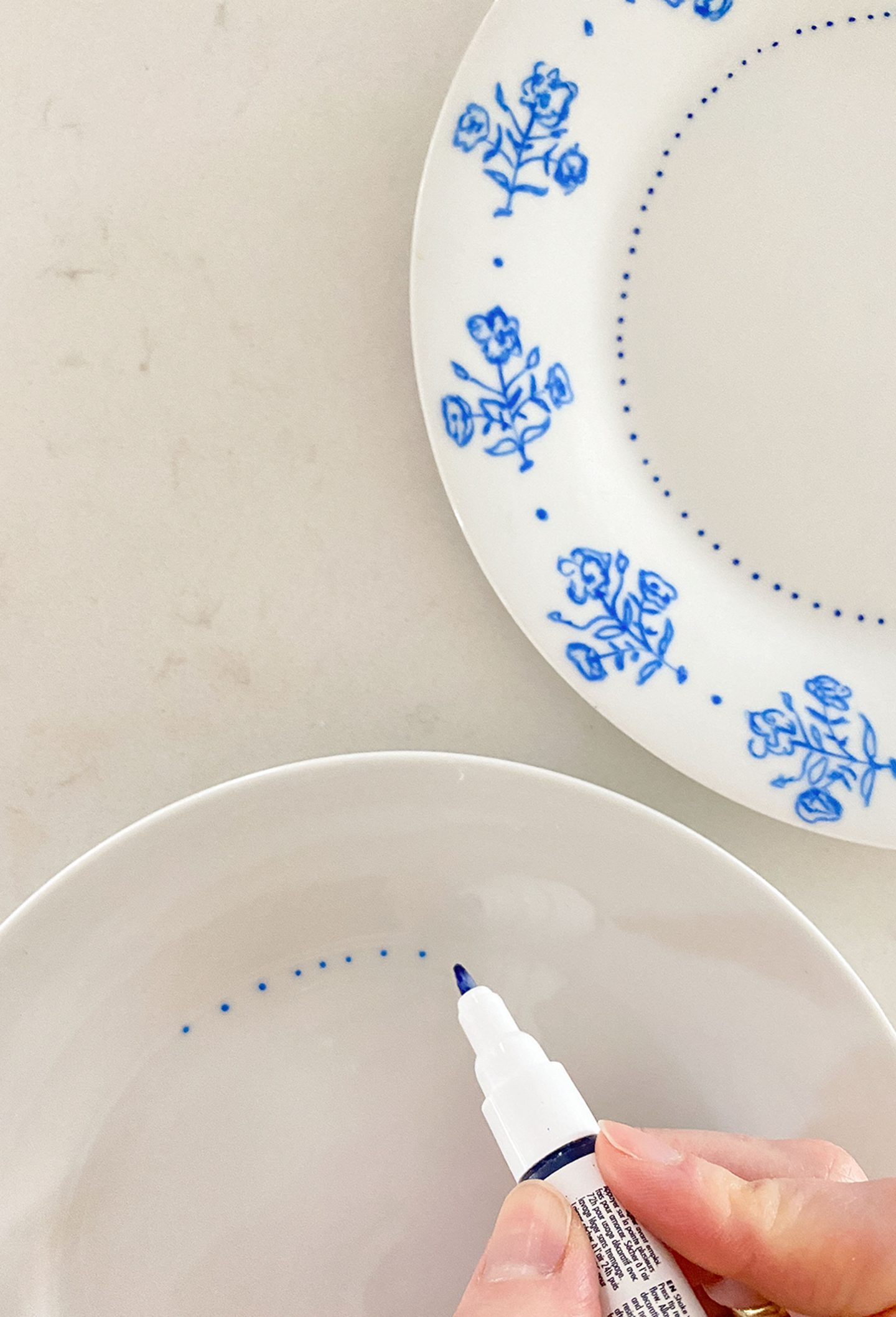 painting porcelain with paint marker