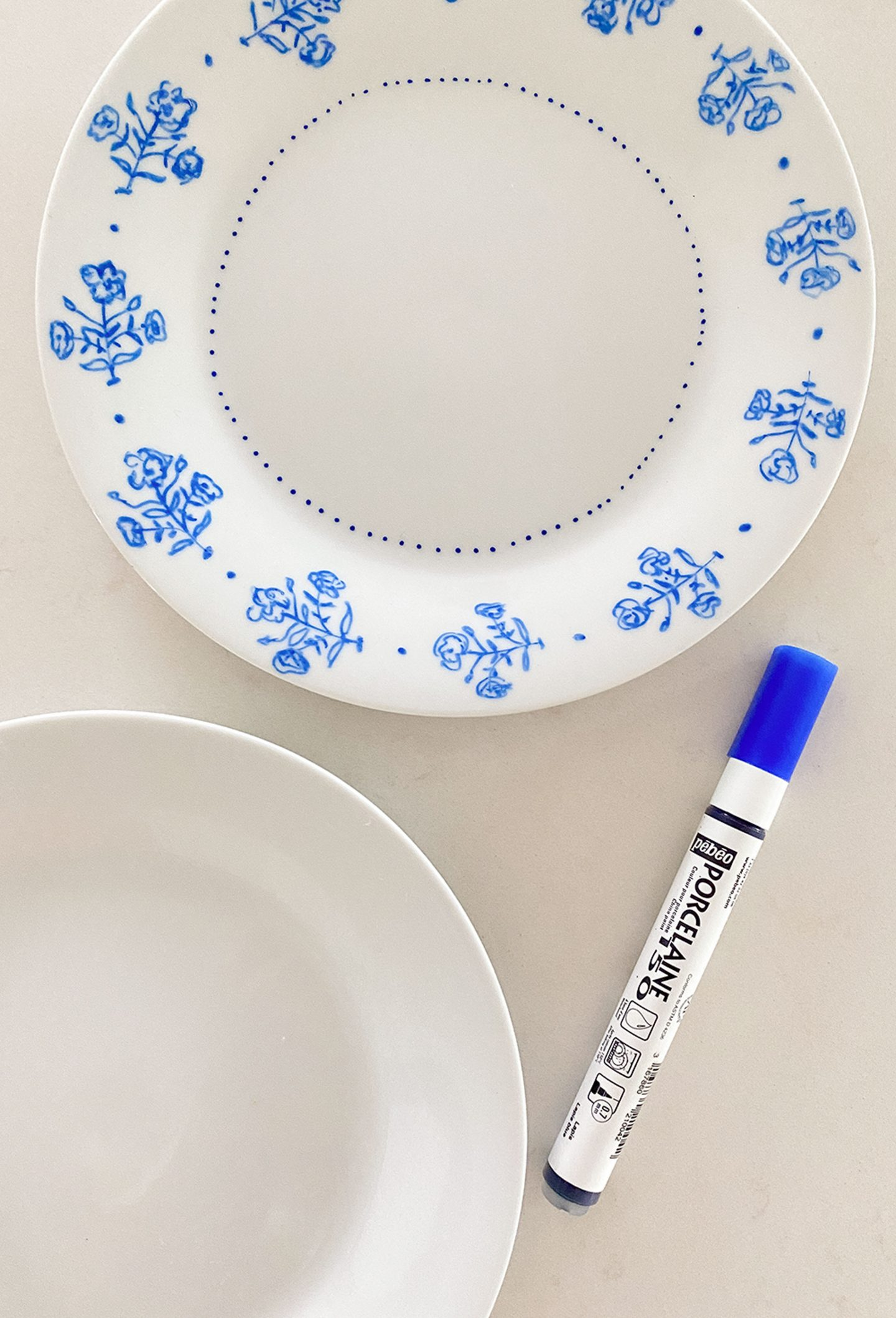 painting porcelain DIY by Ashley Brooke