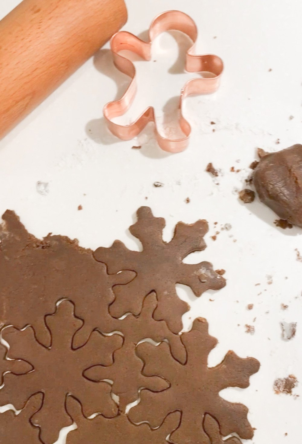 Cutting out gingerbread cookies recipe