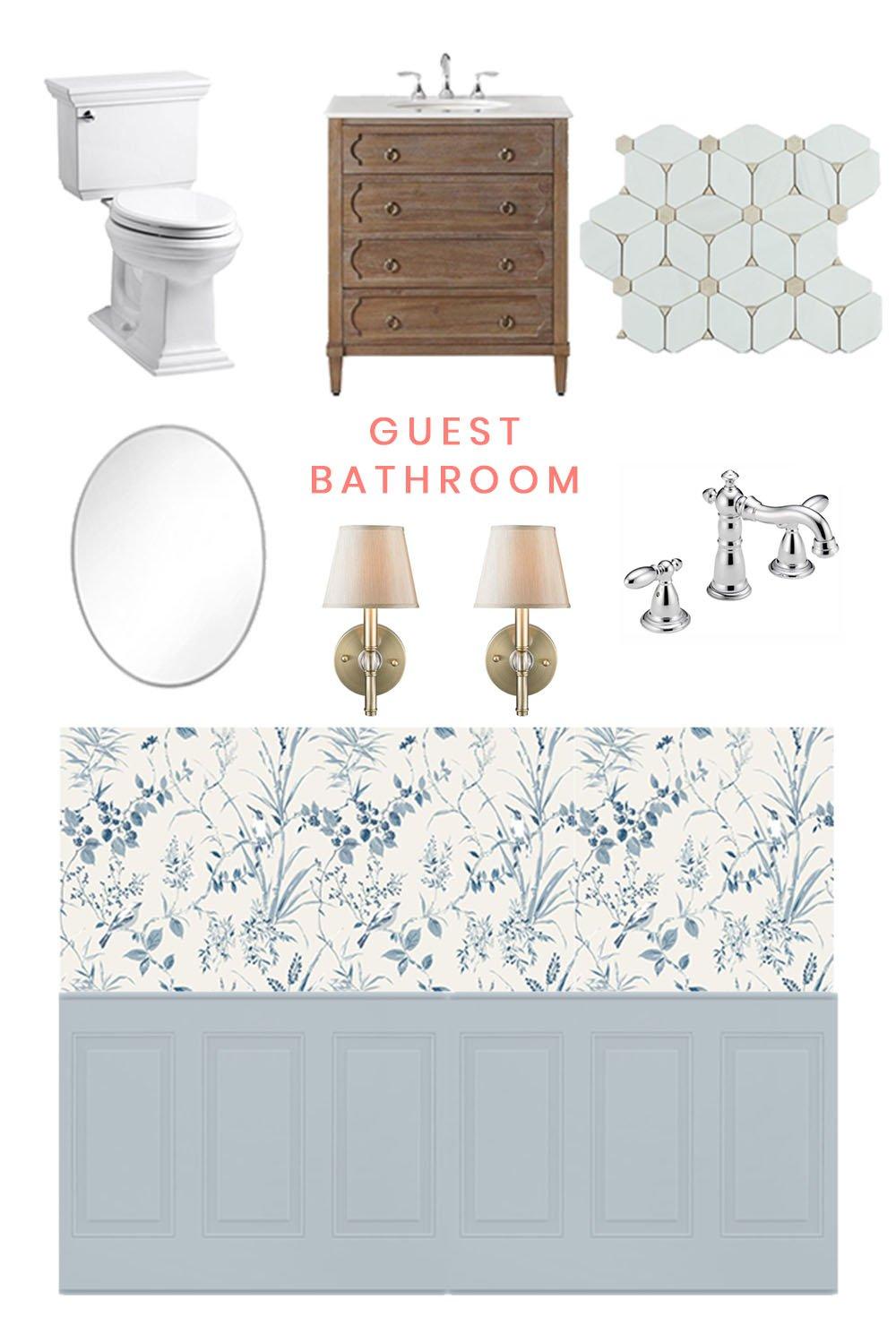 Guest Bathroom Renovation Plan