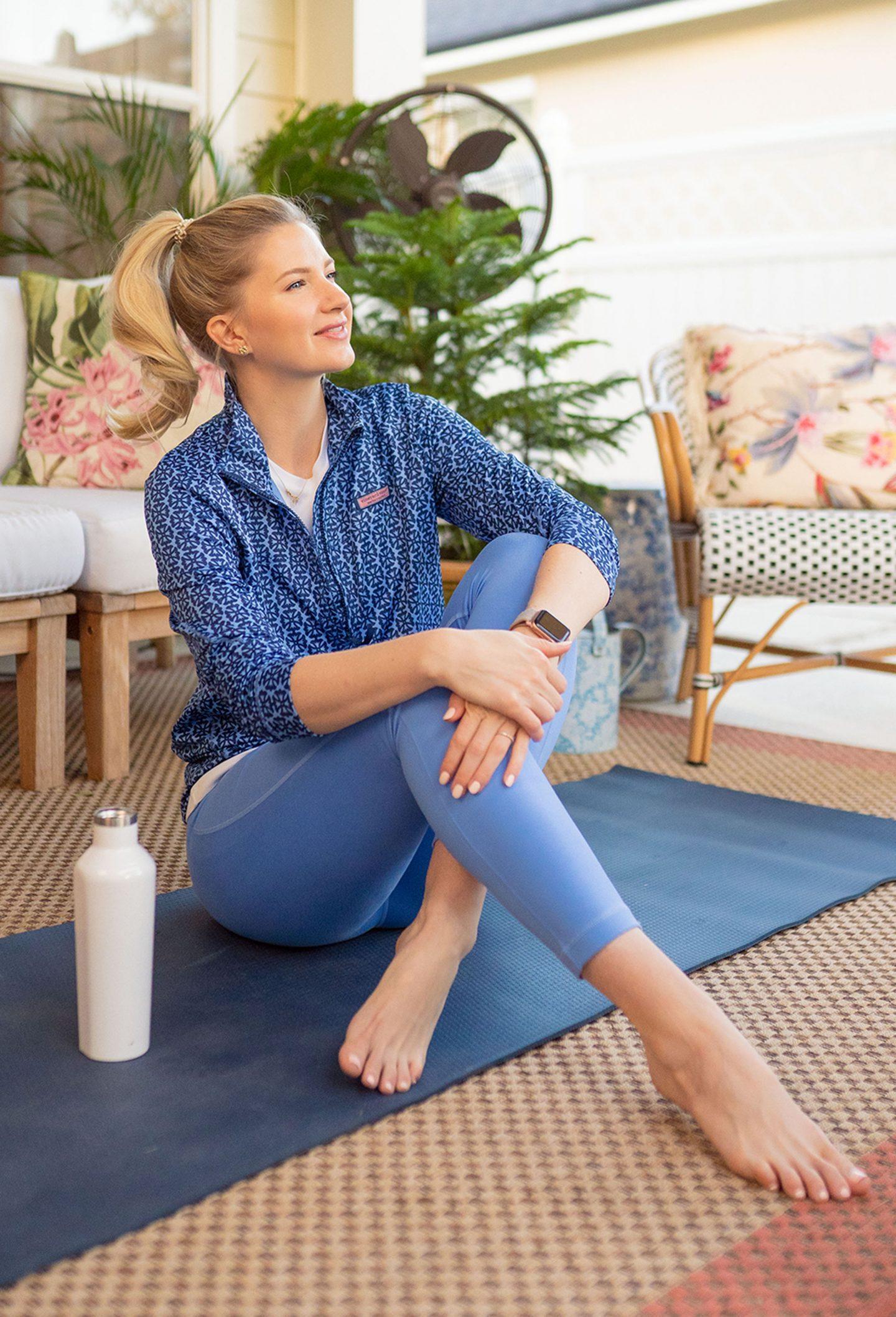 Ashley Brooke in Vineyard Vines workout gear