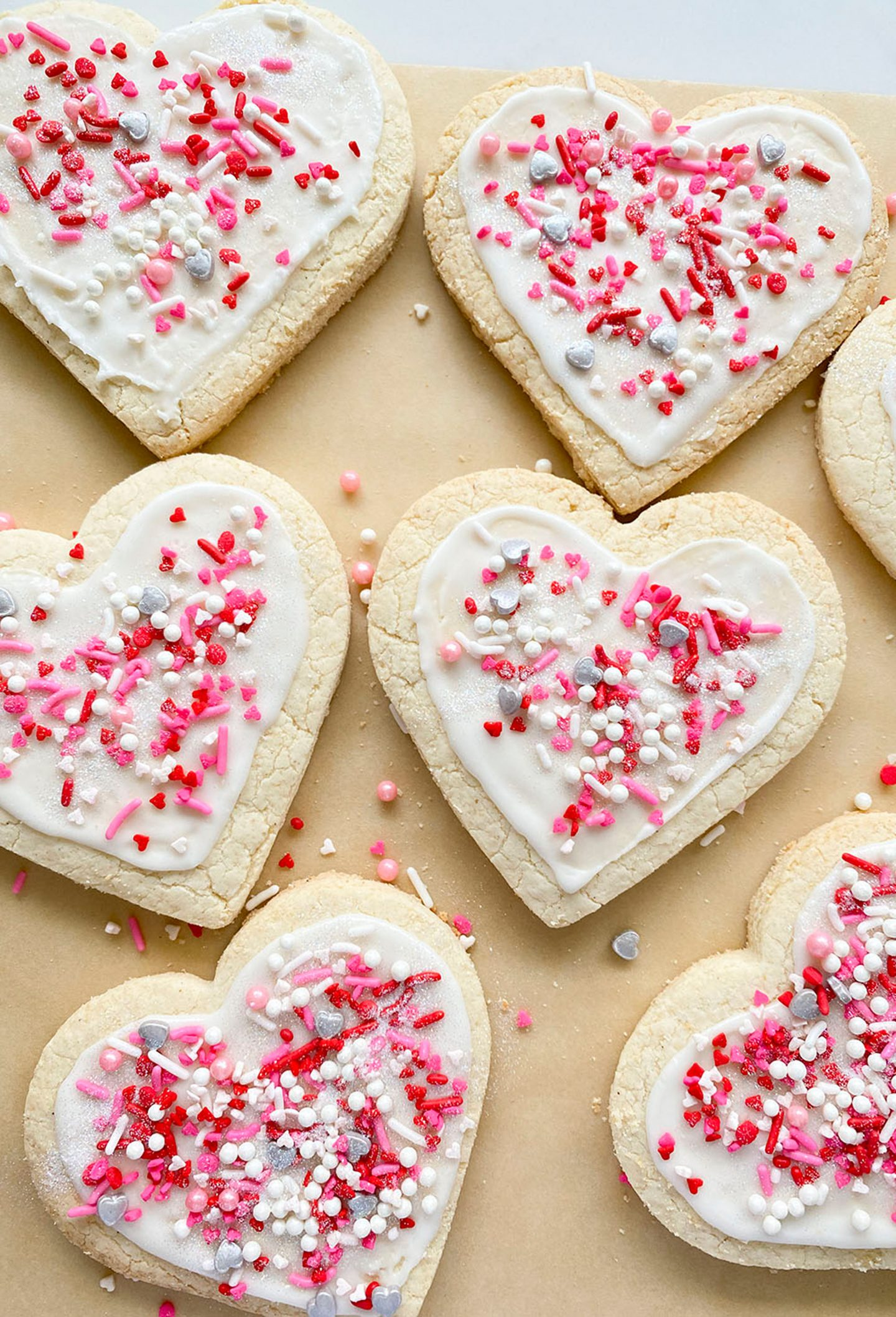 Heart shaped cookies. Gluten & Dairy Free Cut Out Sugar Cookies
