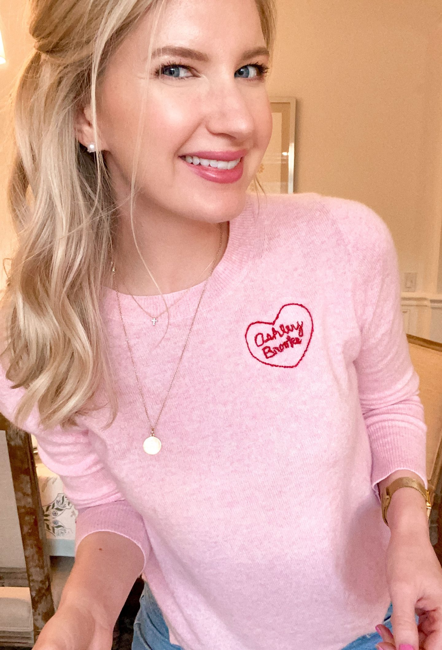 Craft Night: Embroidered Heart Sweaters