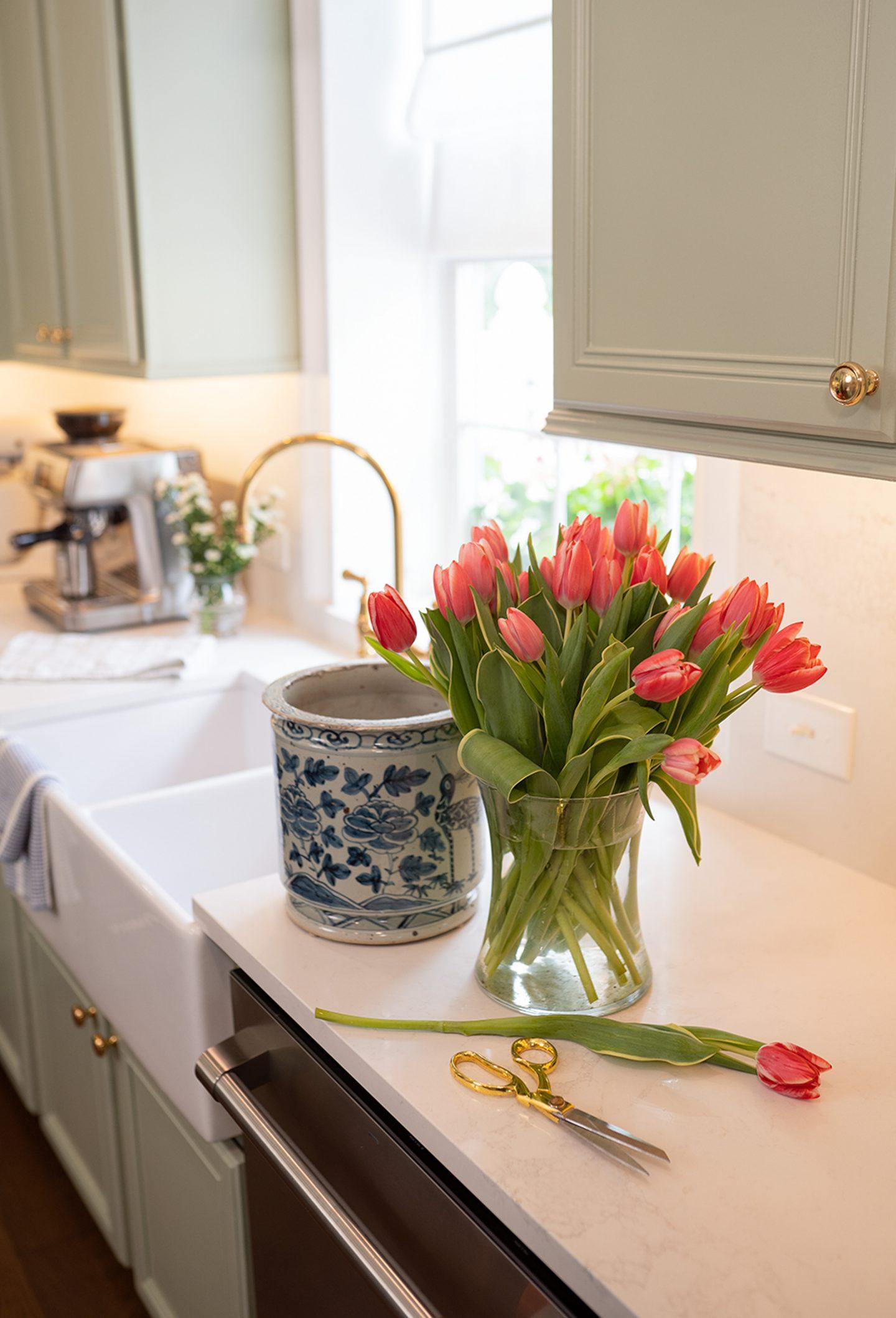 The Secret to Styling My Blue & White Vase