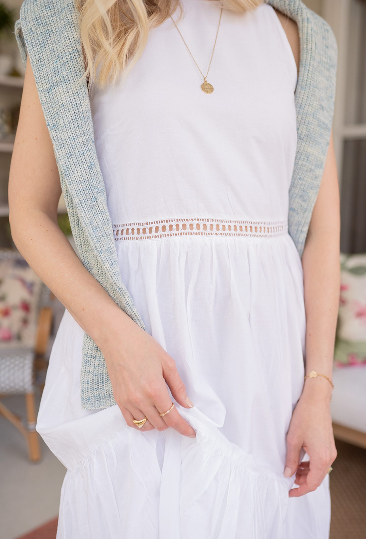 how to style white dress for spring
