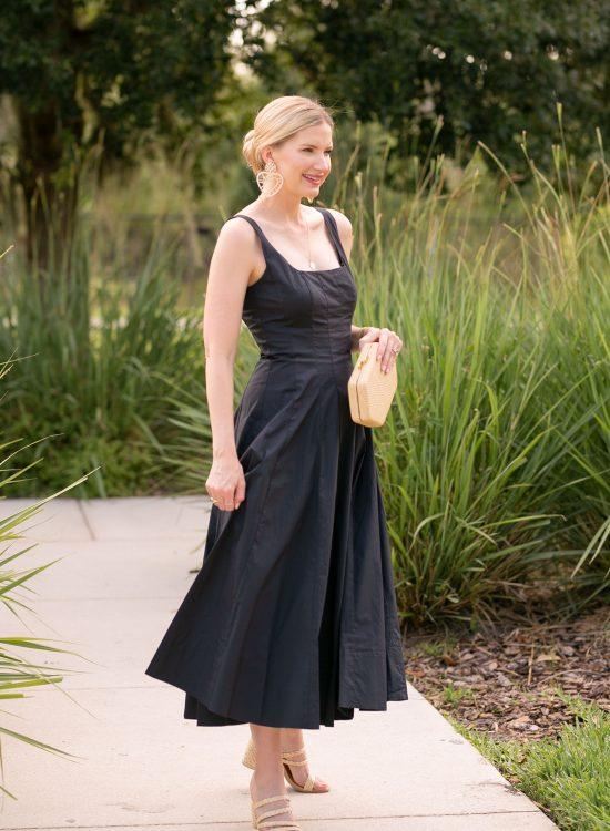 spring summer Black Dress