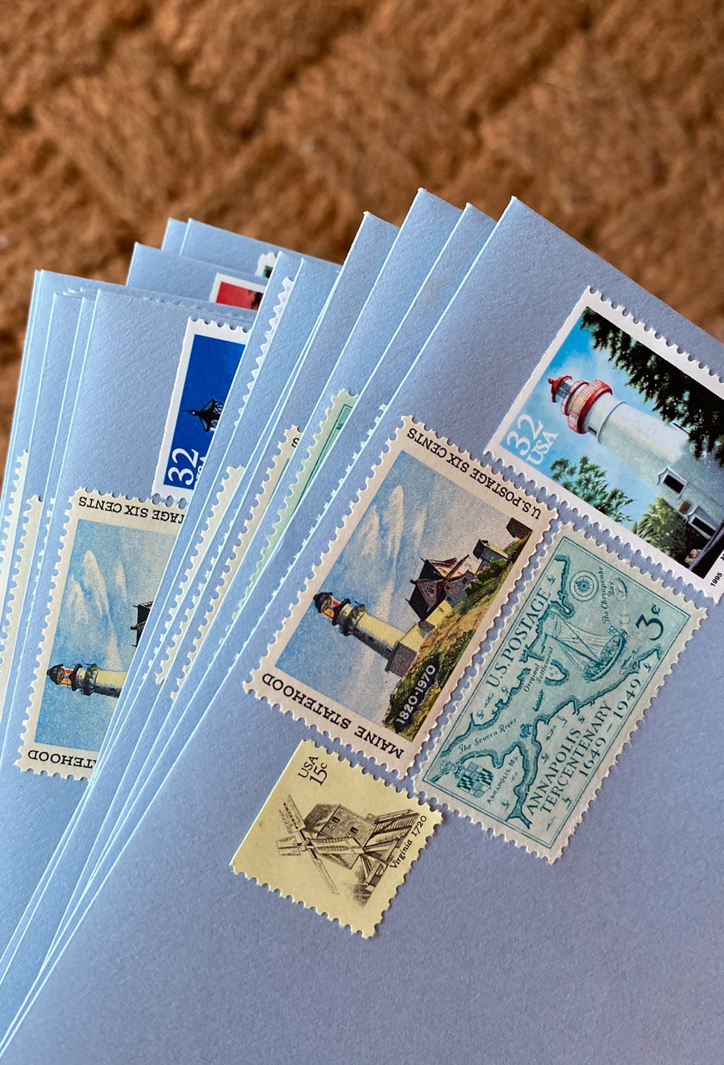 Where to Find Vintage Stamps for Invitations - nautical stamps