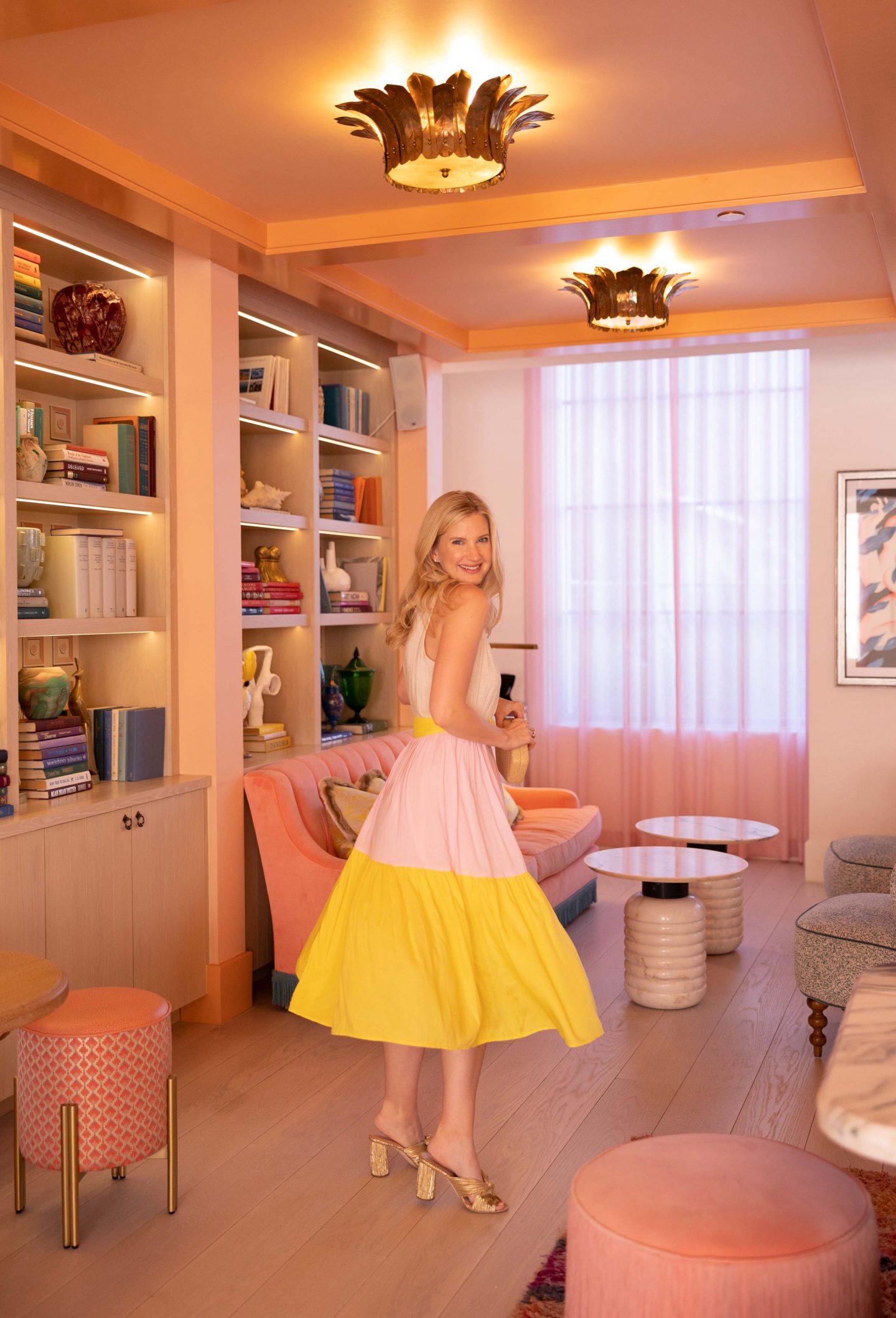 A Very Pink & Yellow Summer Dress