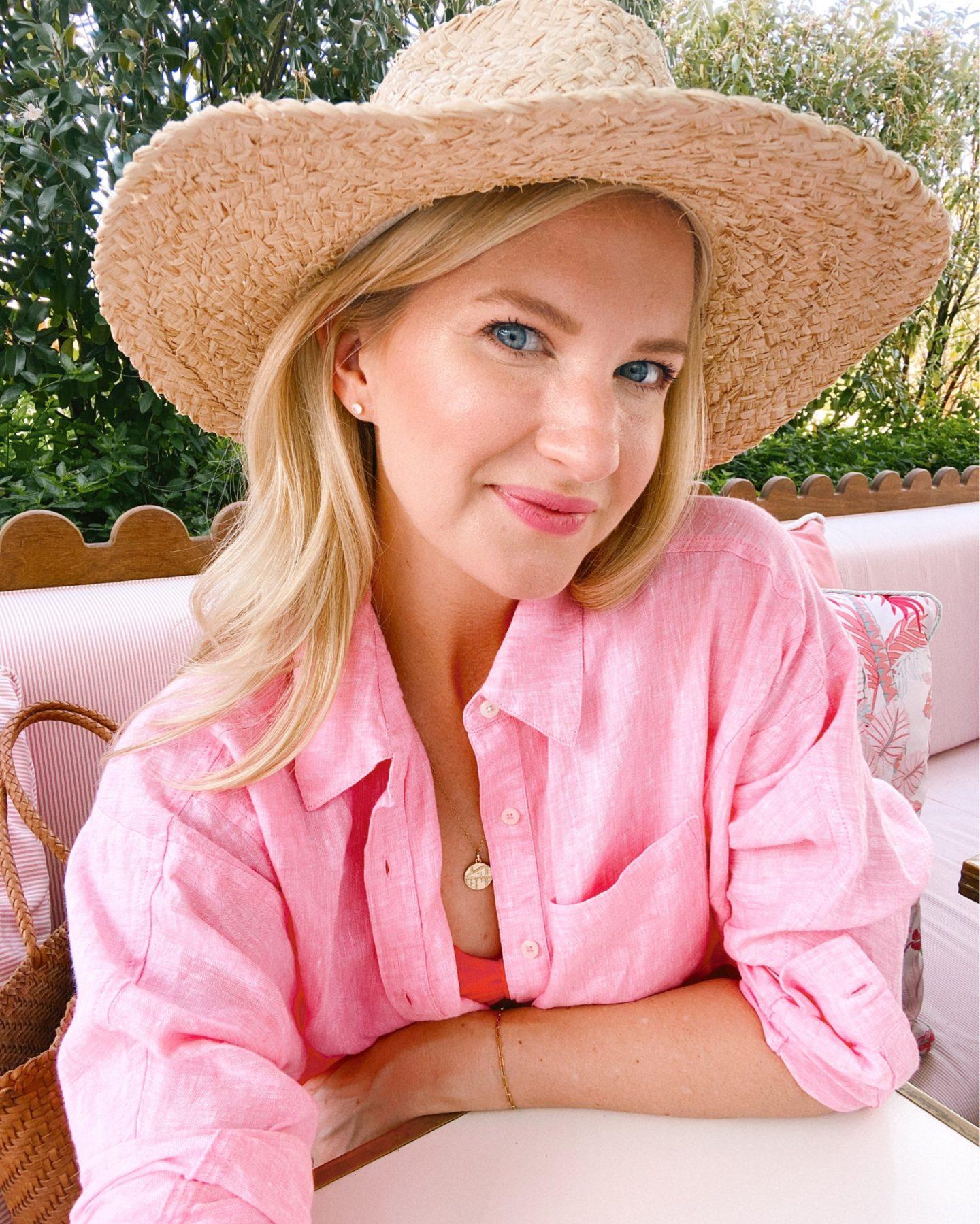 Pink Linen Button Down Three Ways