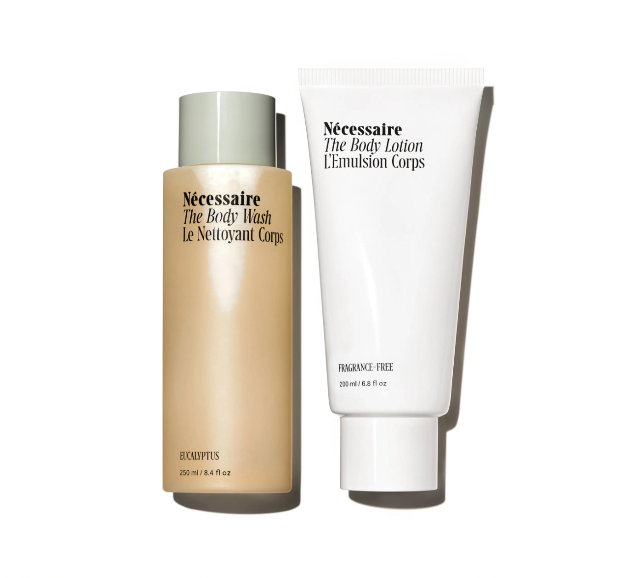 necessaire body wash and lotion
