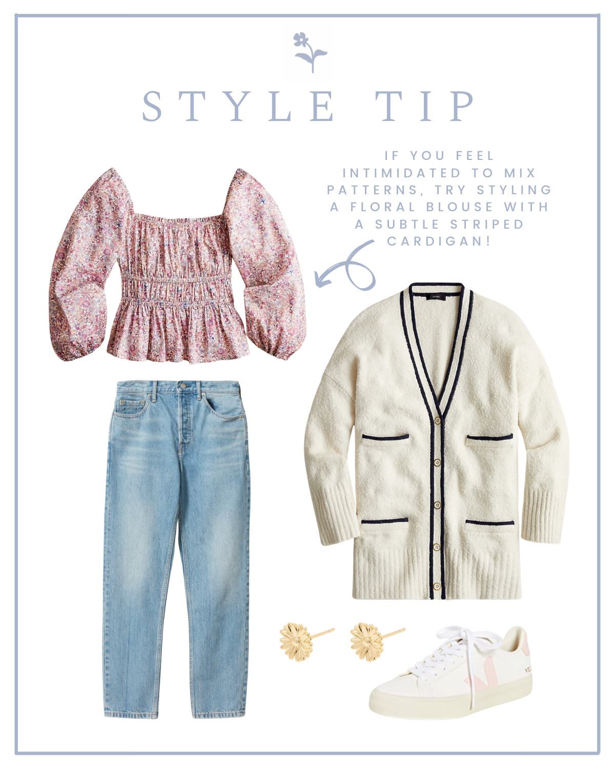 Pattern on pattern outfit ideas