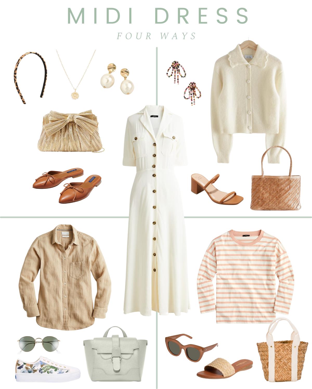 How To Style A Midi Dress Four Ways