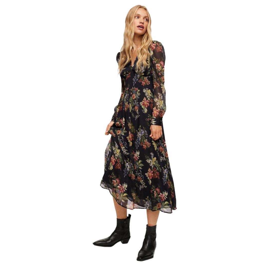 Mango Floral Midi Dress