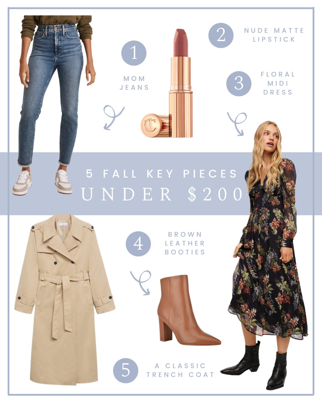 5 Fall Key Pieces Under $200