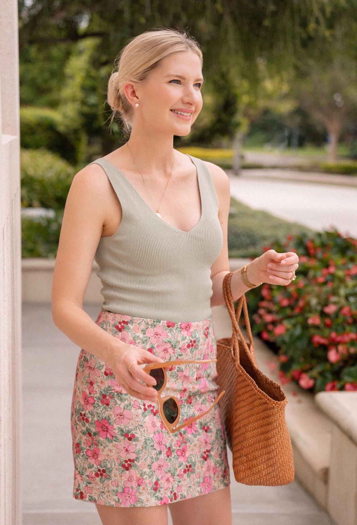Endless Summer: Mini Floral Skirt