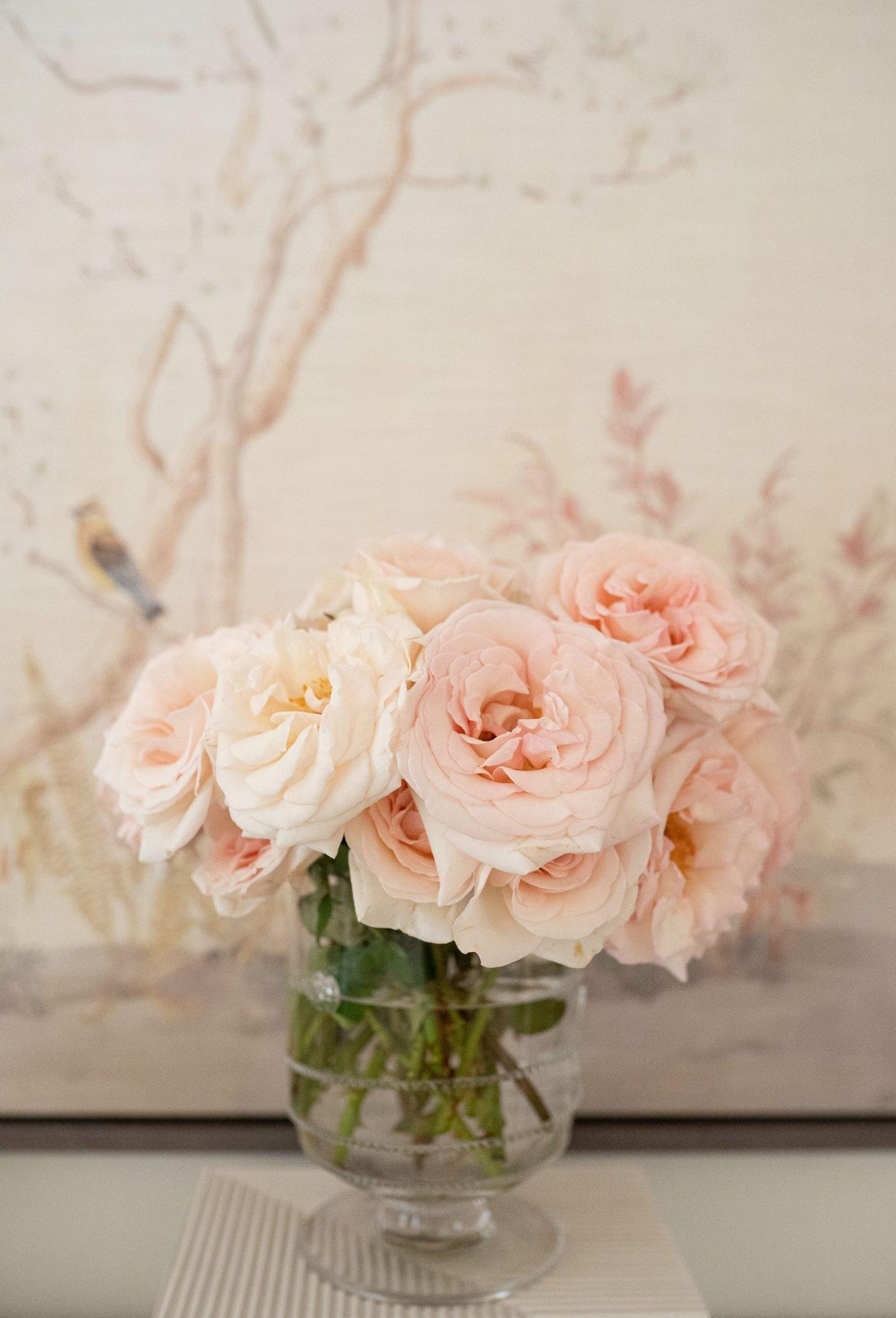Roses in Juliska Flower Vase by Ashley Brooke | Monday Morning Musings 179