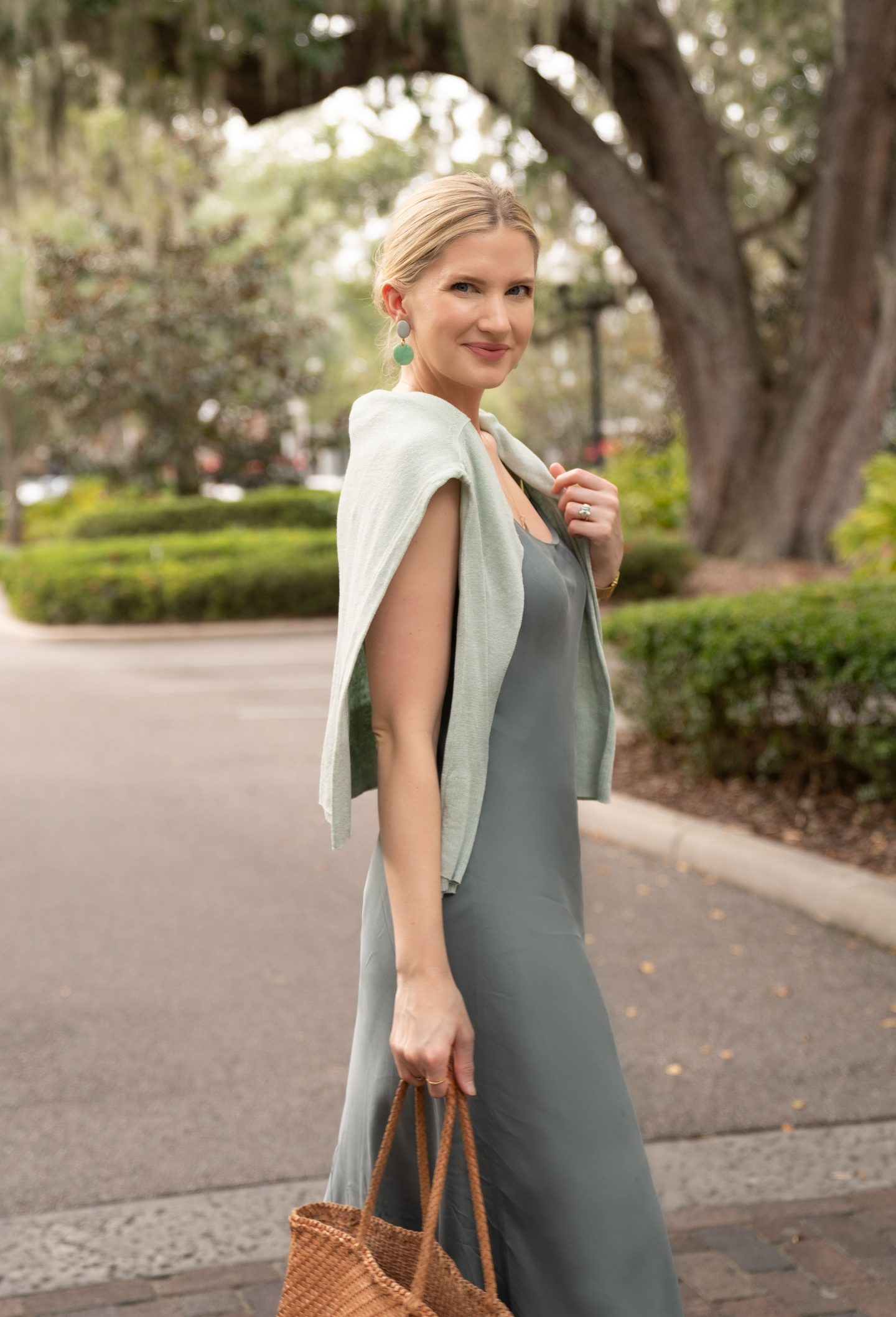 Sage Green Slip Dress