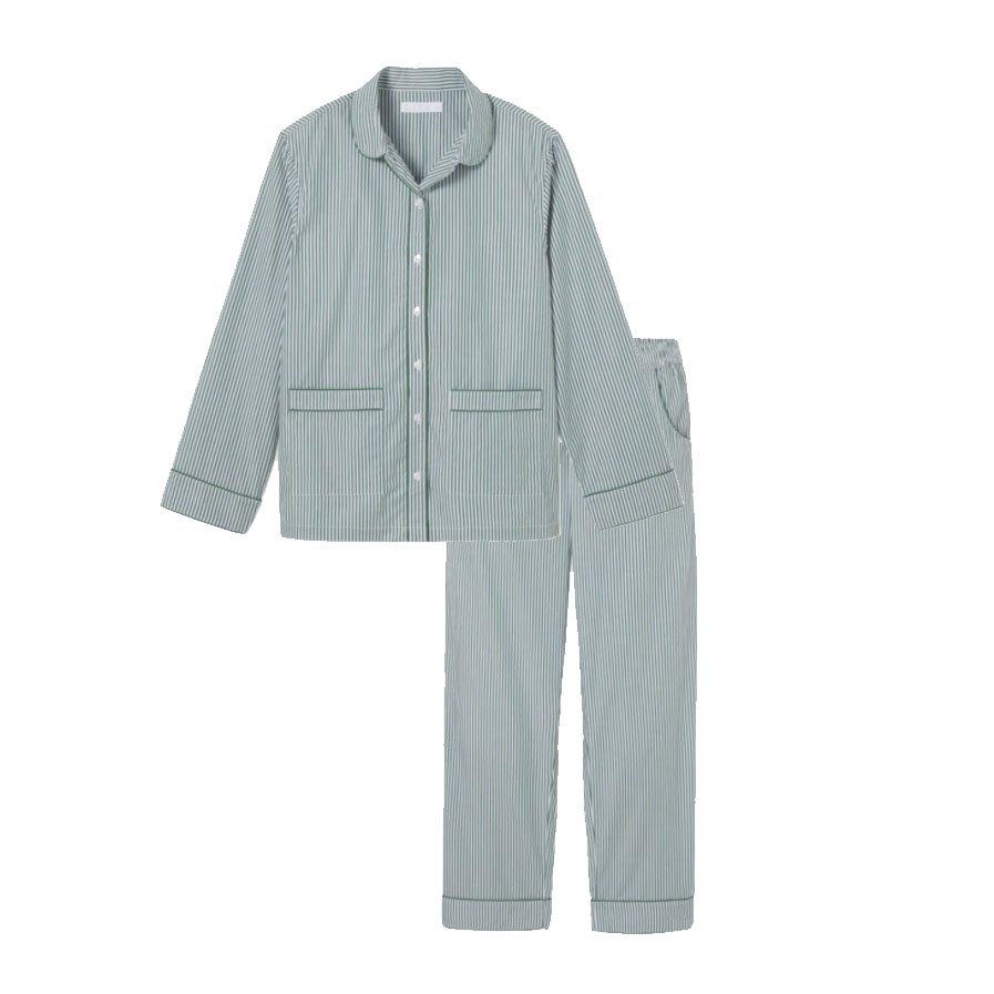 Lake Pajamas - POPLIN PIPED PANTS SET IN EVERGREEN | Monday Morning Musings 179