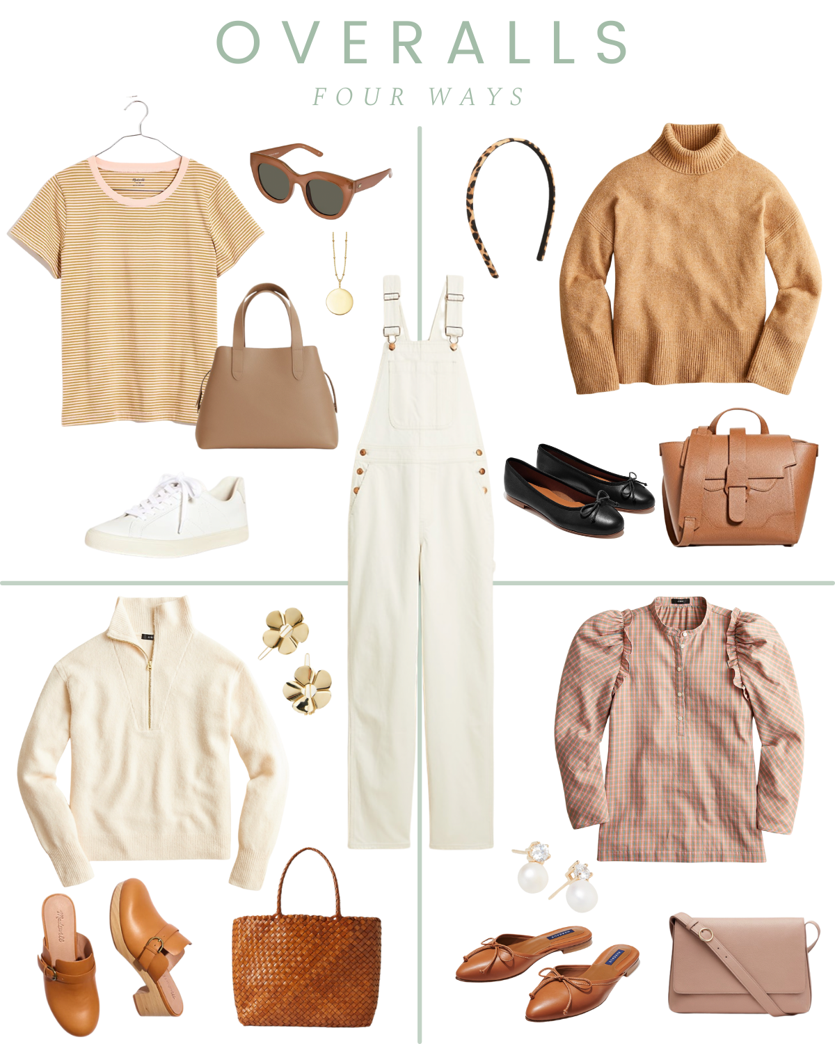 How To Style Overalls Four Ways