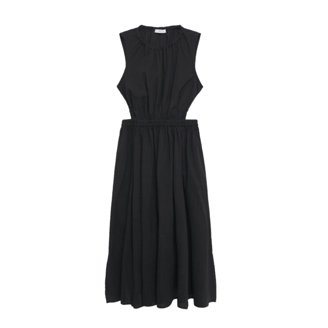 Mango Black Cut Out Dress