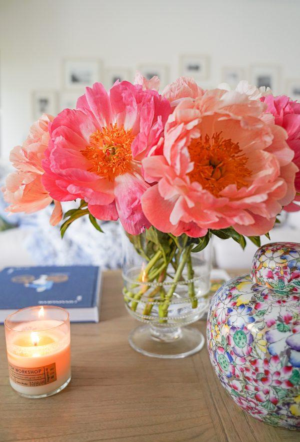 Peonies Flower Arrangement on Ashley Brooke Designs