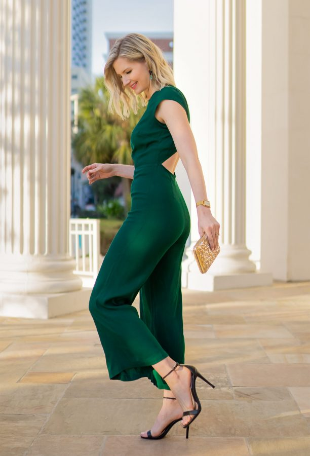 Ashley Brooke in Reformation Green Jumpsuit - @ashleybrooke